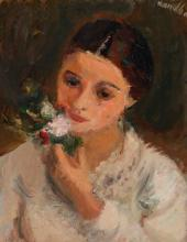 Rajmund Kanelba, Warsaw 1897 - 1960 London, The flower greeting