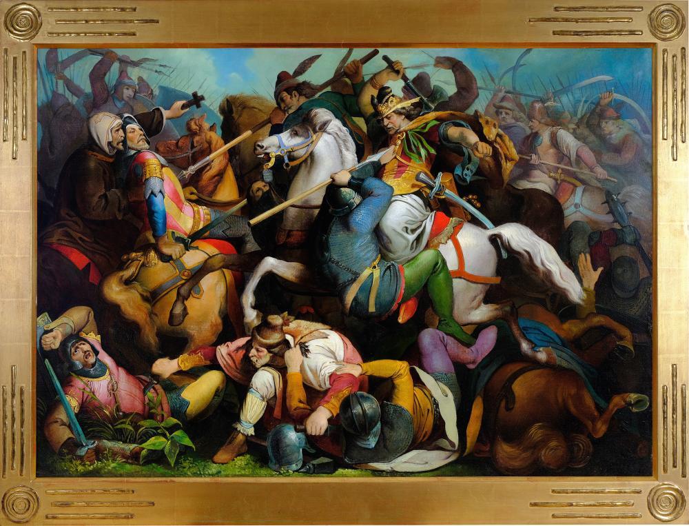 Fritz L'Allemand, Hanau 1812 - 1866 Vienna, The Battle of Mohacs