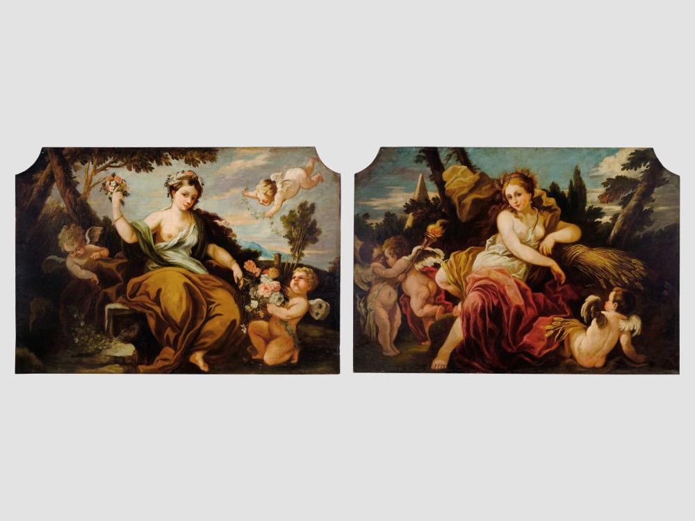 Pair of allegories, Spring and summer, 1st half 18th century