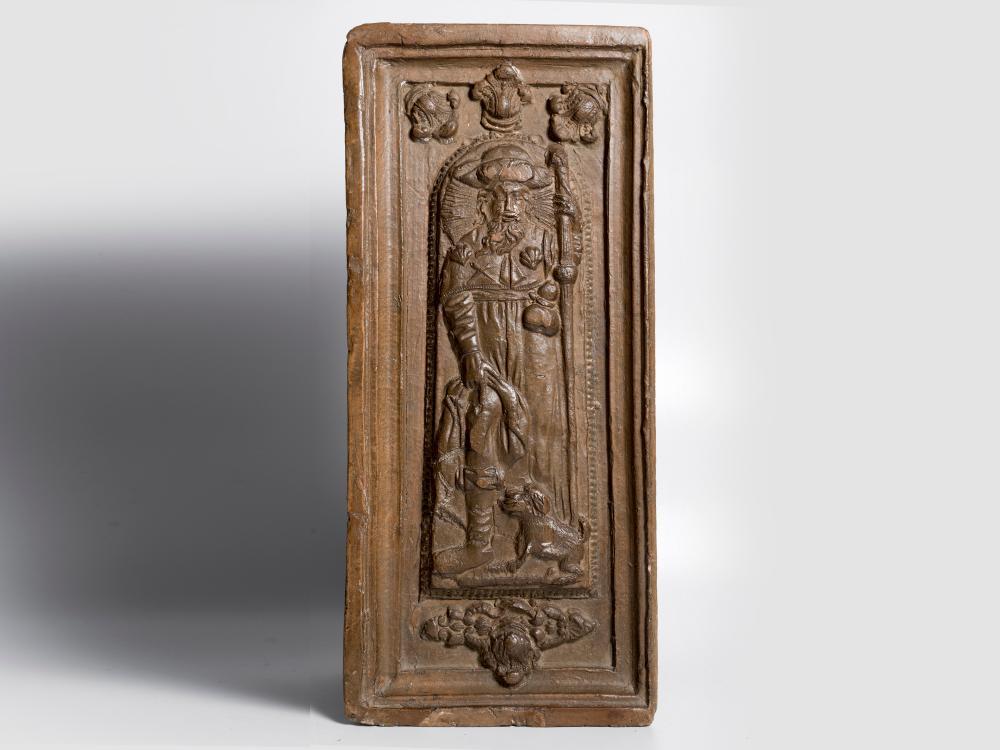 Oven tile, German, 17th century, Terracotta