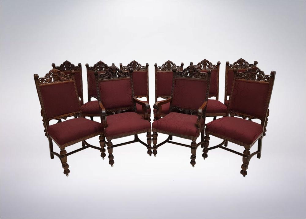 Phenomenal Great Set Of 10 Rj Horner Tiger Oak Dining Chairs Short Links Chair Design For Home Short Linksinfo