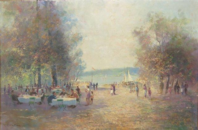 Ernst Jugel, Lakeside Landscape