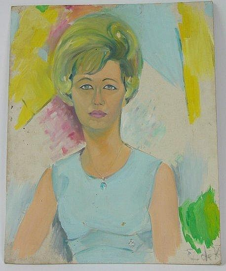 Oil painting signed by Elaine de Kooning