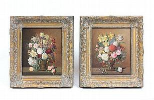 Pair oil paintings signed Karl Heiner