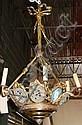 Bronze six light chandelier