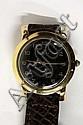Art Deco pink 18kt gold rare Rolex wristwatch
