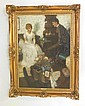 Gerald Leake gilt framed oil painting, Gerald Leake, Click for value