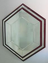 Diamond shaped moderne mirror