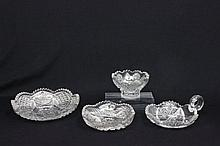 4 pieces American cut glass ca. 1900-20's