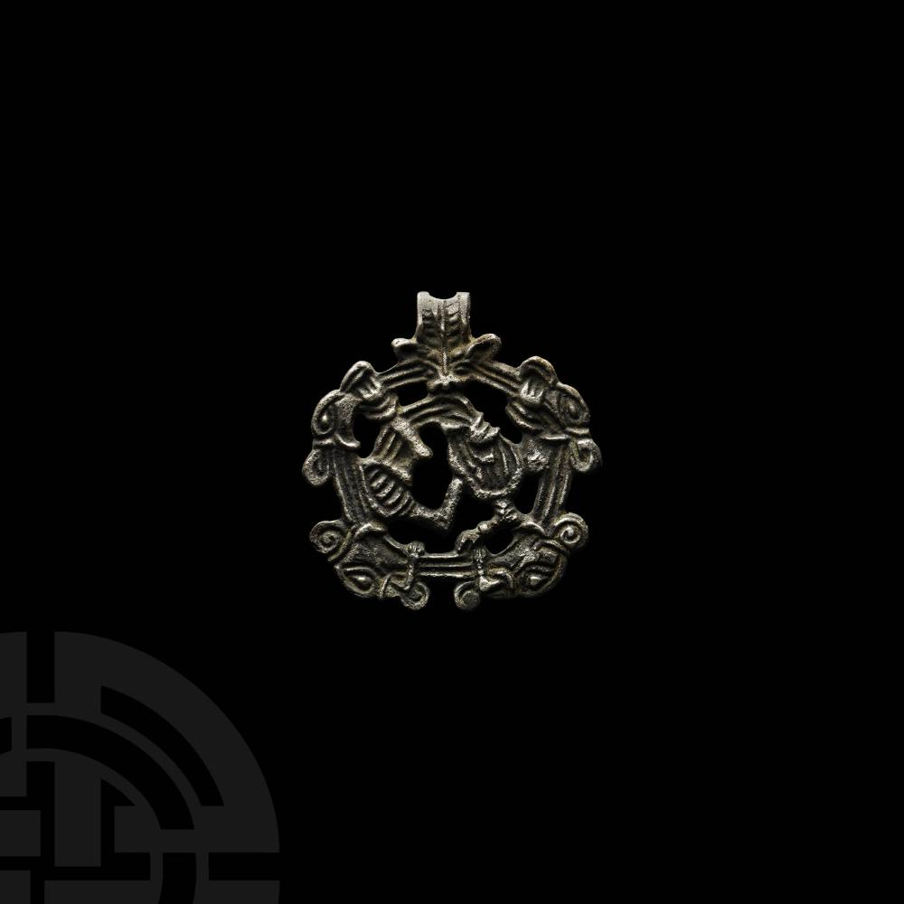 Viking Silver Contorted Beast Pendant