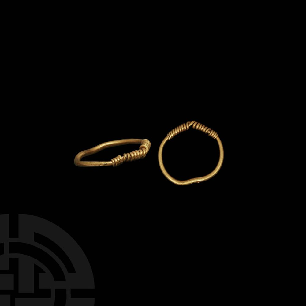 Viking Age Gold Ring with Twisted Bezel