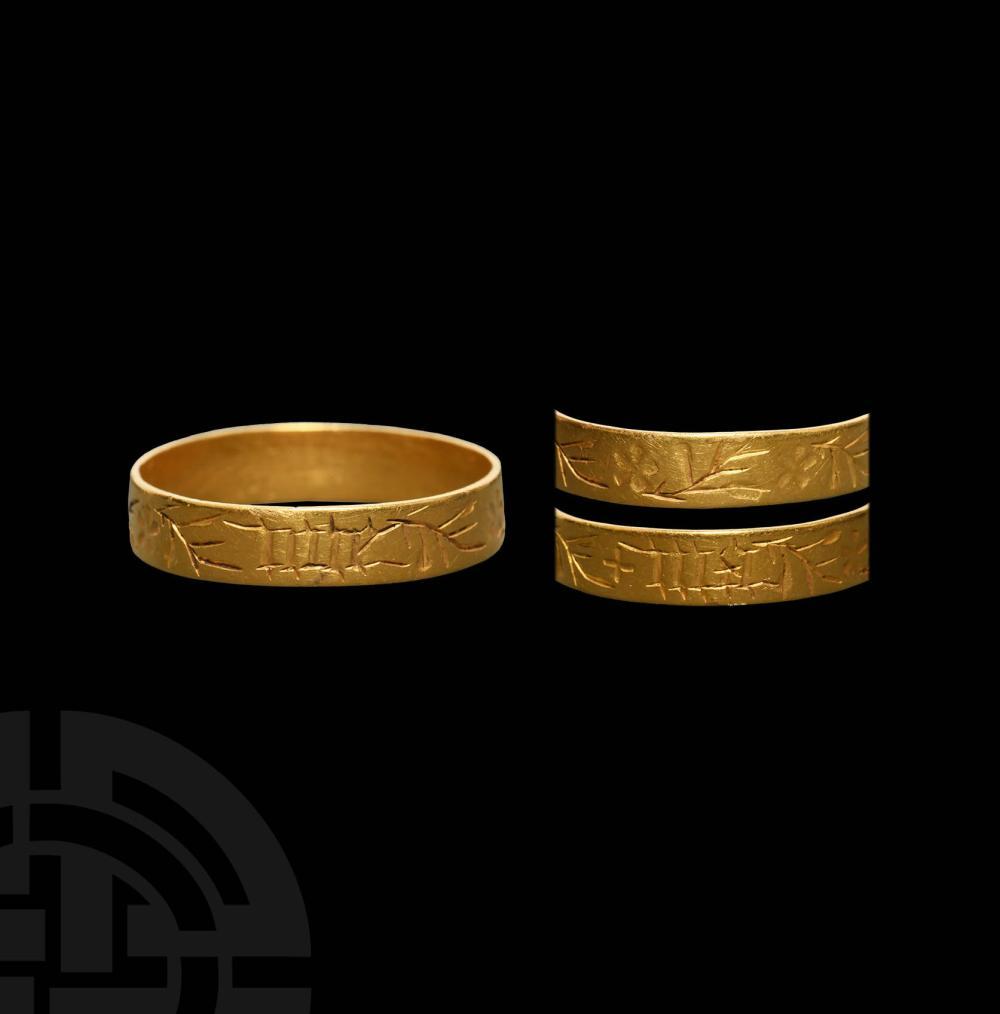 Medieval Gold 'My Joy' Posy Ring