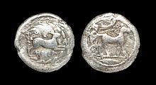 Ancient Greek Coins - Messana - Muleteer Biga Drachm