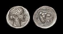 Ancient Greek Coins - Leontini - Apollo Tetradrachm