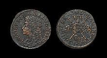 Irish Milled Coins - James II - August 1689 Civil War - Gun Money Sixpence
