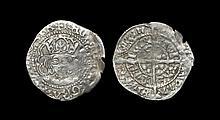 Irish Tudor Hammered Coins - Henry VII - Dublin - Long Cross Groat