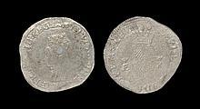 Irish Tudor Hammered Coins - Ireland - Elizabeth I - First Coinage Shilling