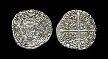 Irish Medieval Hammered Coins - Edward IV - Waterford - Long Cross Groat