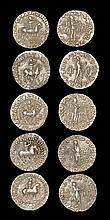 Ancient Greek Coins - Indo-Scythian - Azes - Tetradrachm Group [5]