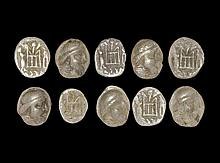 Ancient Greek Coins - Parthian Silver Coin Group [10]