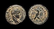 Ancient Greek Coins - Antioch ad Orontem - Elagabalus - Billon Eagle Tetradrachm