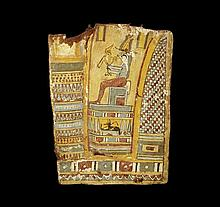 Egyptian Cartonnage Panel with Horus