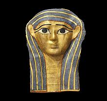 Egyptian Gilt Cartonnage Mummy Mask