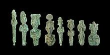 Egyptian Bronze Osiris Figurine Group