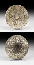 Greek Silver Bowl with Lotus Petals