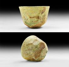 Western Asiatic Sassanian Facet-Cut Glass Cup