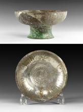 Sassanian Footed Bowl with Bird