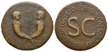 Imperial  - Drusus - Cornucopia & Busts Sestertius