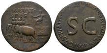 Imperial - Divus Augustus - Quadriga Sestertius