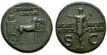 Imperial Coins - Germanicus - Quadriga Dupondius