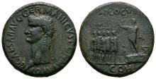 Imperial - Caligula - Emperor & Soldiers Sestertius