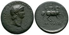 Imperial Coins - Nero - Emperor Riding Sestertius