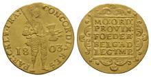 World Coins-Netherlands-1803-Gold Trade Ducat