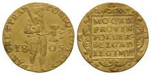 World Coins-Netherlands-1805-Gold Trade Ducat