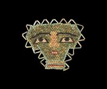 Egyptian Beaded Mummy Face Mask
