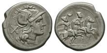 Republican Coins - Anonymous - Dioscuri Denarius