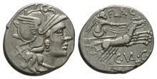 Republican Coins - C Valerius C f Flaccus - Denarius