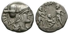 Republican Coins - Ti Veturius - Wariors Denarius