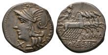 Republican-M Baebius Qf Tampilus-Apollo Denarius