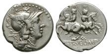 Republican Coins-C Servilius M f-Dioscuri Denarius