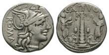 Republican Coins-C Minucius Augurinus - Denarius