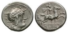 Republican-Q Marcius Philippus-Horseman Denarius