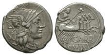 Republican - Cn Papirius Carbo - Jupiter Denarius