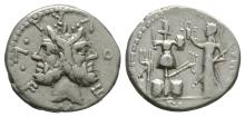 Republican - M. Furius L. f. Philus - Janus Denarius