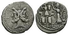 Republican Coins-M Furius Philus-Janus Denarius