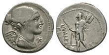 Republican Coins-L Valerius Flaccus-Mars Denarius